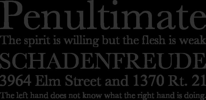 New Athena Unicode font family