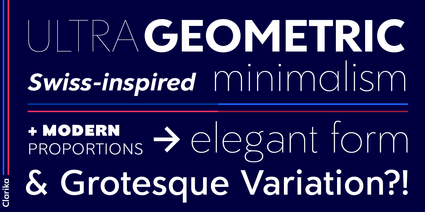 Clarika Font Free by The Refinery » Font Squirrel