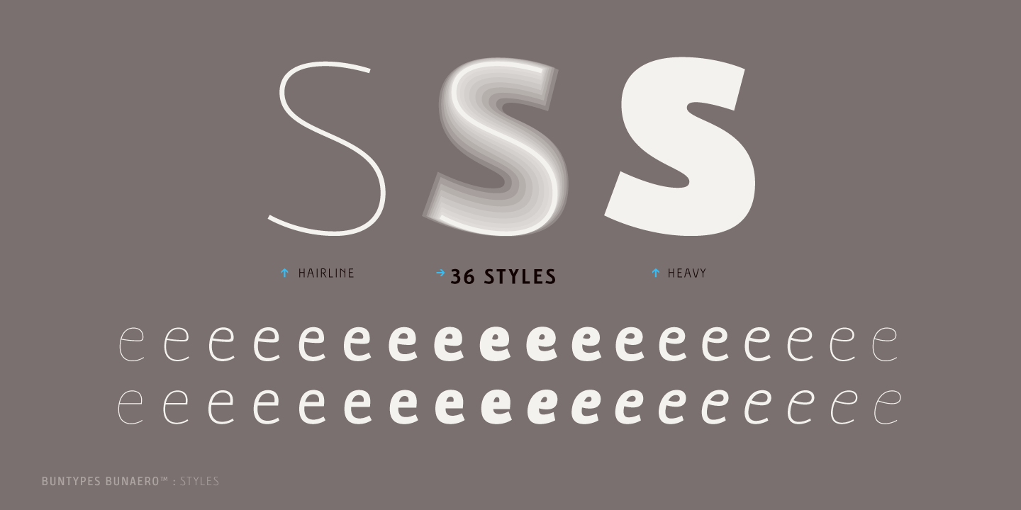 Bunaero pro font free by buntype font squirrel collateral biocorpaavc Choice Image