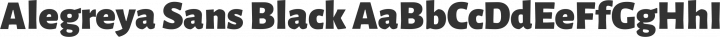 Alegreya Sans Black free font