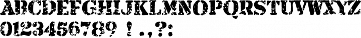 Armalite Rifle Alphabet Specimen