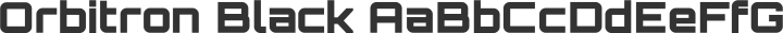 Orbitron Black free font