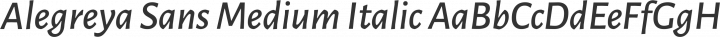 Alegreya Sans Medium Italic free font