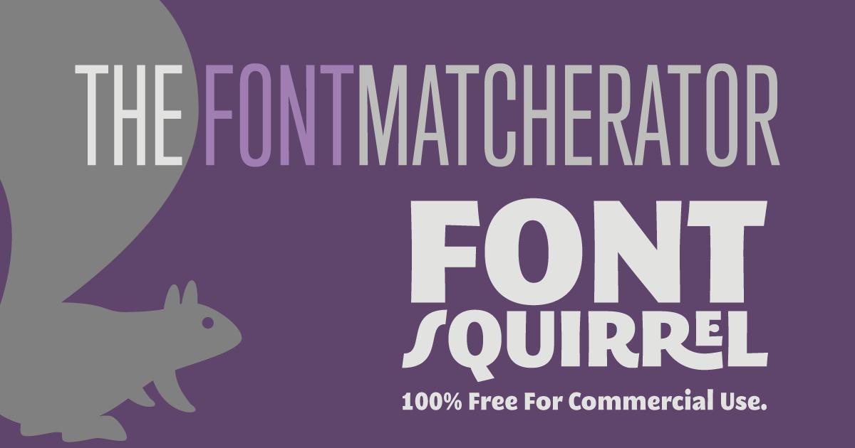 Identify Fonts - The Font Squirrel Matcherator